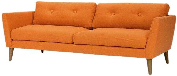 Article Emil Button Tufted Sofa Orange