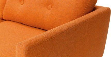 Emil Button Tufted Sofa Orange