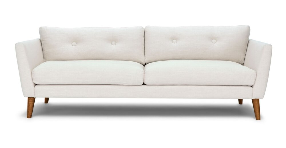 Awesome Emil Mid Century Modern Sofa Quartz White Cjindustries Chair Design For Home Cjindustriesco