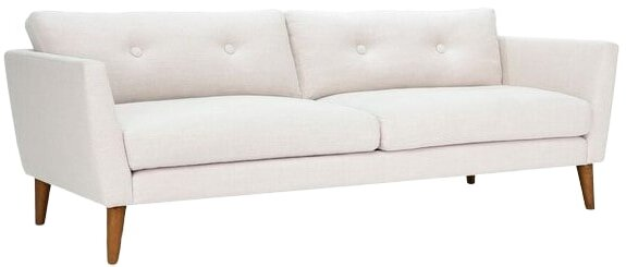 Article Emil Mid-Century Modern Sofa Quartz White