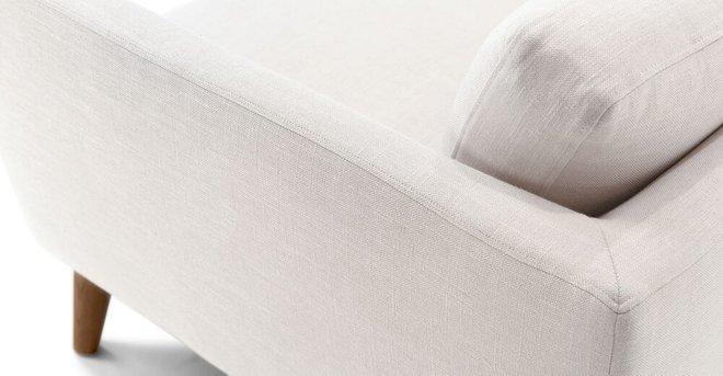 Emil Mid Century Modern Sofa Quartz White In La Sofas