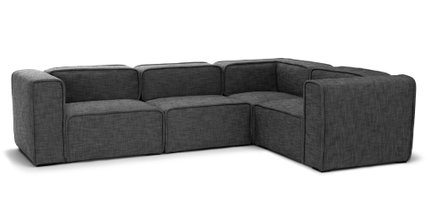 Article Quadra Corner Sectional Carbon Gray
