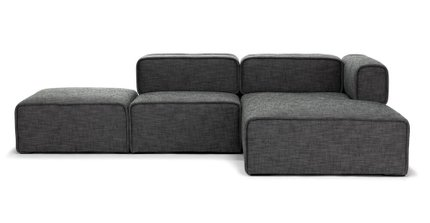 Carbon Modern Modular right Sectional Gray