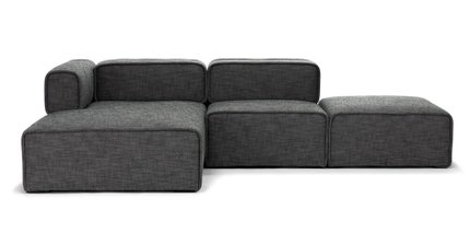 Article Carbon Modern Modular Left Sectional Sofa Gray