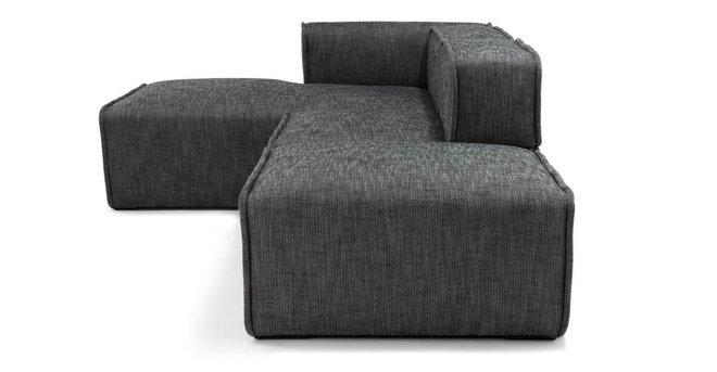 Carbon Modern Modular Left Sectional Gray