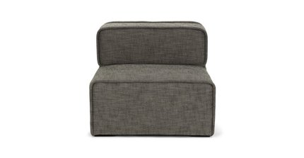 Carbon Modern Armless Lounge Chair Taupe