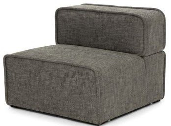 Article Carbon Modern Armless Lounge Chair Mineral Taupe