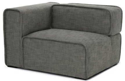 Article Quadra Left Arm Module Sofa Mineral Taupe