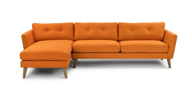 Emil Left Sectional Papaya Orange