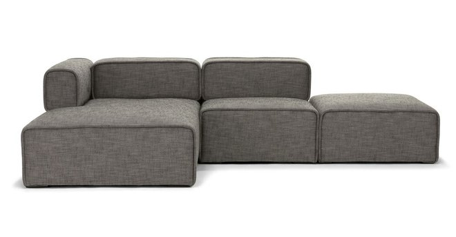 Article Carbon Modern Left Sectional Modular Sofa Mineral Taupe