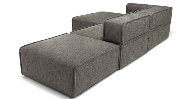 Carbon Modern Modular Left Sectional Taupe