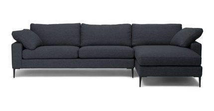 Nova Right Sectional Sofa Bard Gray