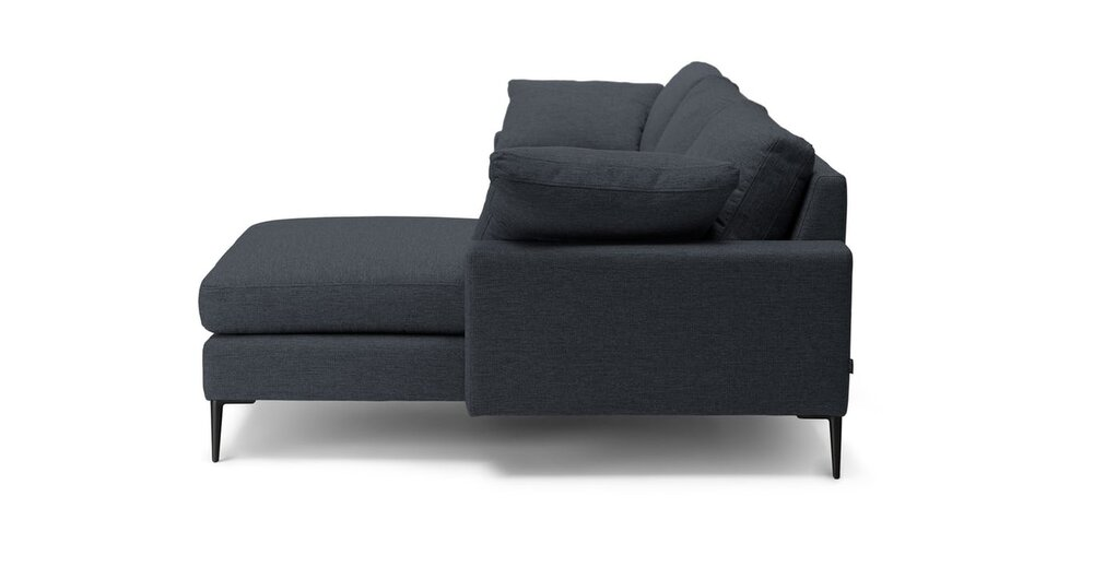 Nova Right Sectional Sofa Bard Gray In Sf Sectional
