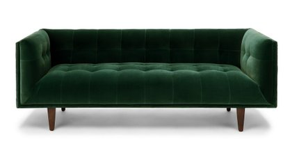Cirrus Mid-Century Modern Sofabalsam Green