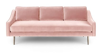 Mirage Contemporary Sofa Blush Pink