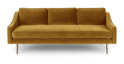 Mirage Contemporary Sofa Yarrow Gold