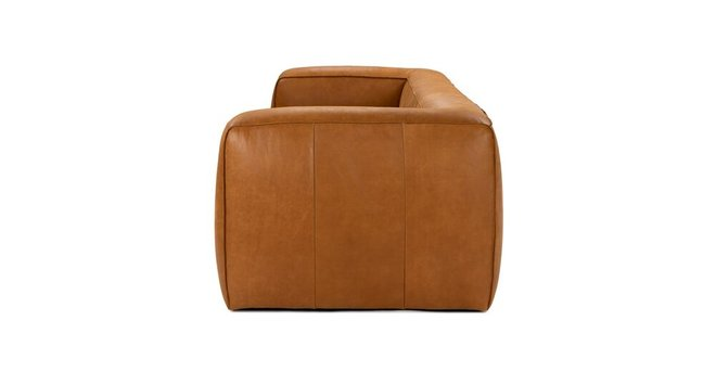 Article Cigar Contemporary Leather Sofa Tan