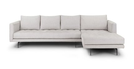 Parker Right Sectional Coconut White