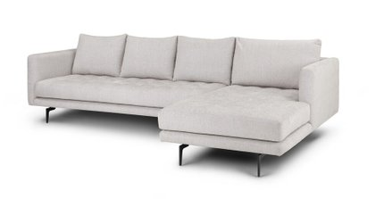 Awesome Parker Right Sectional Coconut White Pdpeps Interior Chair Design Pdpepsorg