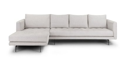 Parker Left Sectional Coconut White