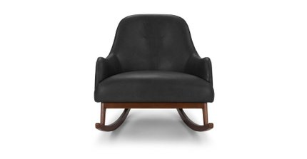 Embrace Leather Rocking Chair Black