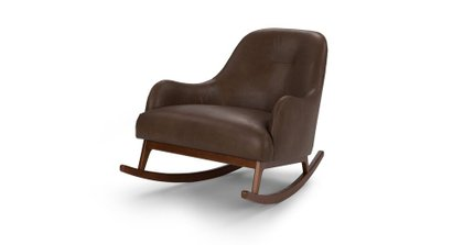 Embrace Leather Rocking Chair Brown