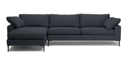 Article Nova Left Sectional Sofa Bard Gray