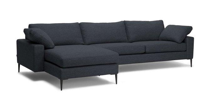 Nova Left Sectional Sofa Bard Gray