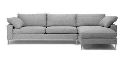 Nova Right Sectional Sofa Winter Gray