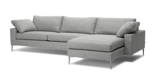 Nova Right Sectional Sofa Winter Gray