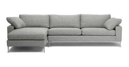 Nova Left Sectional Sofa Winter Gray