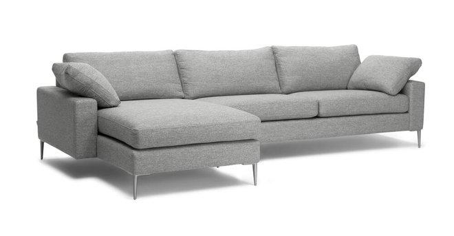 Nova Left Sectional Sofa Winter Gray
