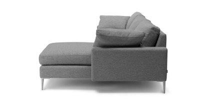 Nova Right Sectional Sofa Gravel Gray