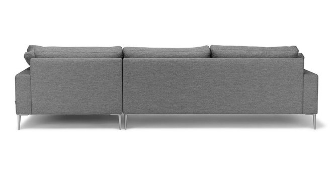 Article Nova Right Sectional Sofa Gravel Gray