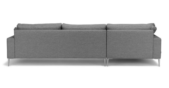 Nova Left Sectional Sofa Gravel Gray
