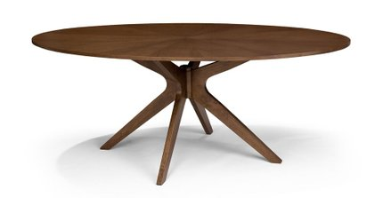 Conan Dining Table Oval Walnut