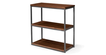 Archive Modern Bookcase Short And Slim Walnut