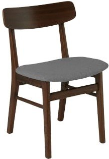 Article Ecole Mid Century Modern Dining Chair Gray & Walnut (Set of 2)