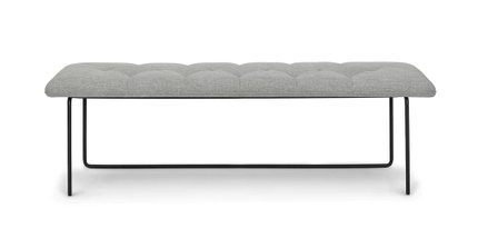 Level Contemporary Bench Winter Gray