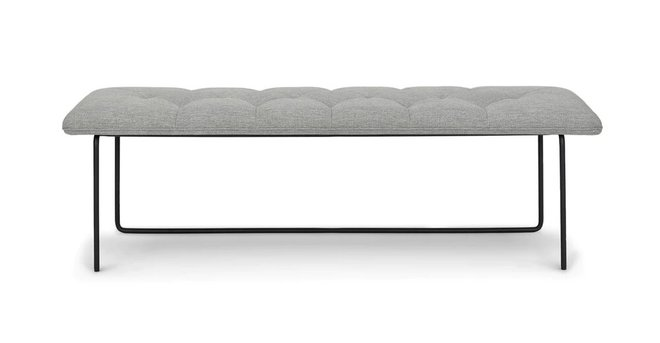 Article Level Contemporary Bench Winter Gray