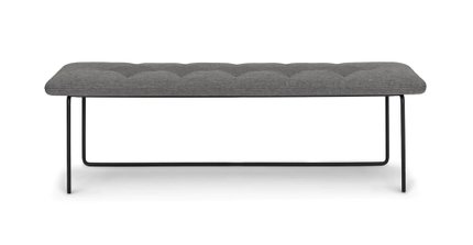 Level Contemporary Bench Gravel Gray
