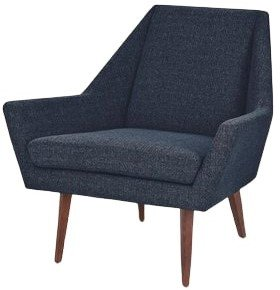 Article Angle Armchair Denim Blue And Walnut