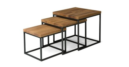 Article Taiga Nesting Tables Oak