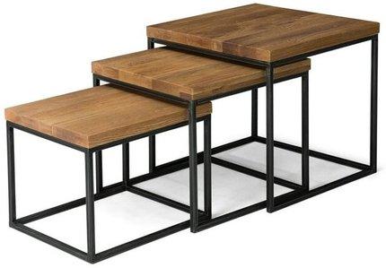 Article Taiga Nesting Tables Oak