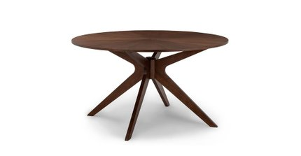 Article Conan Round Dining Table Walnut