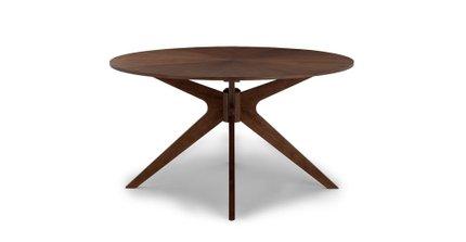 Conan Round Dining Table Walnut