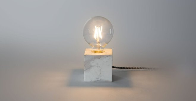 Article Flashcube Table Lamp White