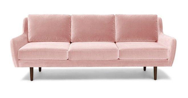Brilliant Matrix Modern Contemporary Velvet Sofa Blush Pink Andrewgaddart Wooden Chair Designs For Living Room Andrewgaddartcom