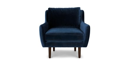 Matrix Modern Contemporary Velvet Chair Cascadia Blue