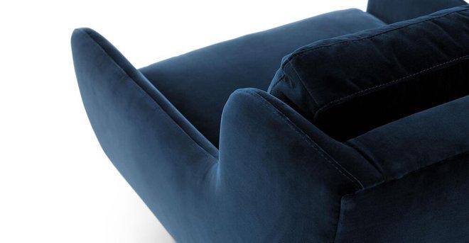 Matrix Modern Contemporary Velvet Chair Cascadia Blue